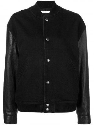 Куртка-бомбер с принтом льва на спине Givenchy. Цвет: черный