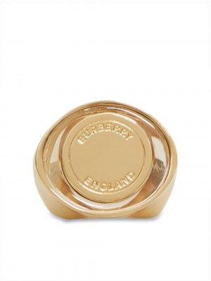 Перстень с гравировкой Burberry. Цвет: золотистый