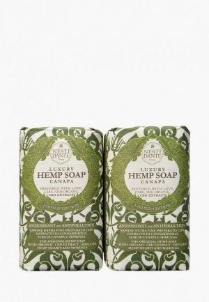 Набор для ухода за телом Nesti Dante Мыло Luxury Hemp Soap/Роскошное Конопляное, 2*250г. Цвет: разноцветный