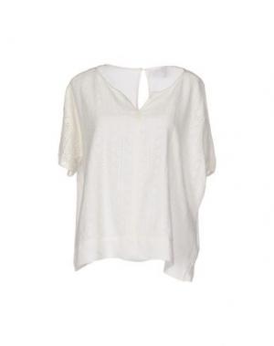 Блузка KAFFE. Цвет: белый