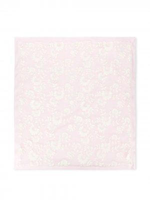 Одеяло с цветочным узором Aletta. Цвет: розовый