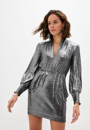 Платье Ba&Sh. Цвет: серебряный