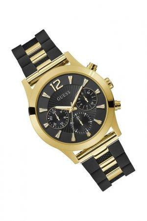 Наручные часы Guess. Цвет: черный, золотистый