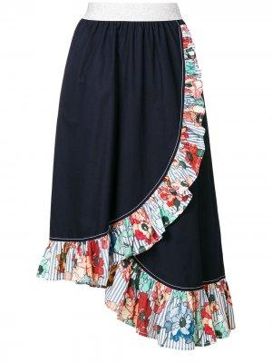 IM Isola Marras юбка асимметричного кроя с оборками I'M. Цвет: синий