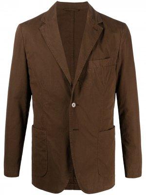 Однобортный пиджак на пуговицах Aspesi. Цвет: коричневый