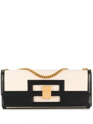 Большая сумка на плечо 1945 Balmain. Цвет: белый