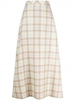 Клетчатая юбка макси COOL T.M. Цвет: нейтральные цвета