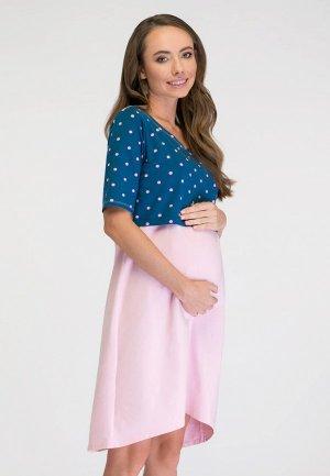 Платье домашнее Proud Mom. Цвет: разноцветный