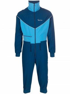 1970s colour-block cropped jumpsuit Pierre Cardin Pre-Owned. Цвет: синий
