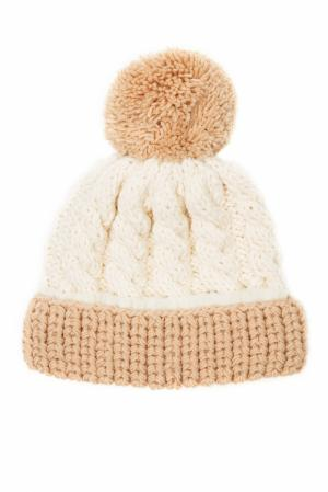 Шерстяная шапка 7II. Цвет: бежевый