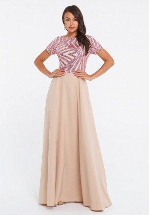 Платье Eva. Цвет: бежевый