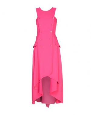 Платье до колена ANTONIO BERARDI. Цвет: фуксия
