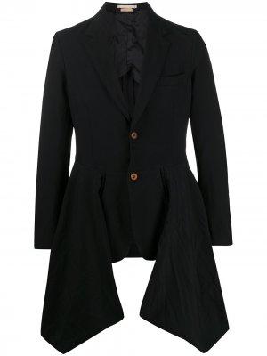 Драпированный пиджак Comme Des Garçons Homme Plus. Цвет: черный
