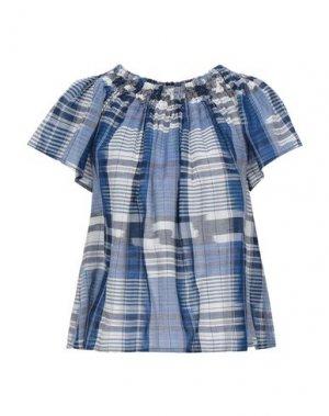 Блузка ULLA JOHNSON. Цвет: синий
