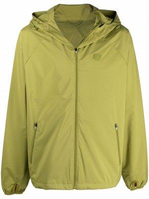Куртка с капюшоном и нашивкой-логотипом Kenzo. Цвет: зеленый