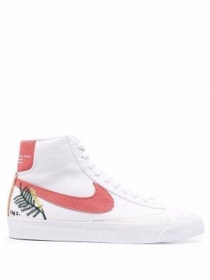 Высокие кеды Blazer Nike. Цвет: белый