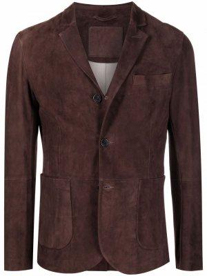 Замшевый пиджак Desa 1972. Цвет: коричневый