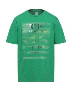 Футболка C.P. COMPANY. Цвет: зеленый
