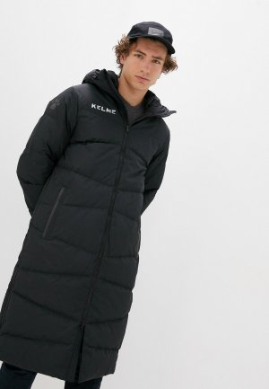 Пуховик Kelme Padding Jacket Long Down (Adults). Цвет: черный