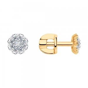 Серьги из золота с бриллиантами SOKOLOV Diamonds