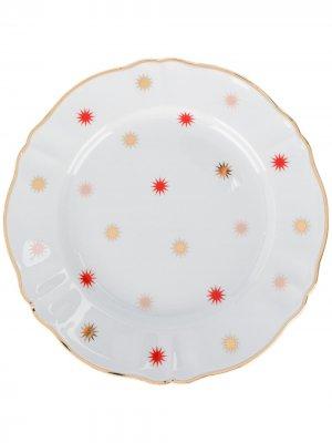 Тарелка Volta Bitossi Home. Цвет: белый