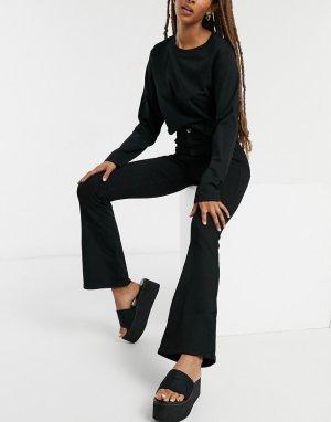 Черные расклешенные джинсы с завышенной талией -Черный Dr Denim