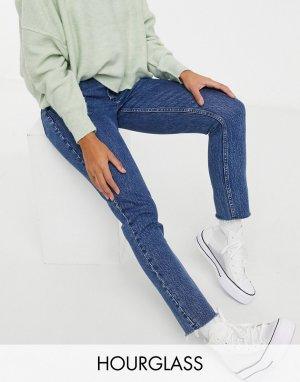 Синие зауженные джинсы Curvy-Синий Abercrombie & Fitch