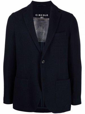 Однобортный пиджак Circolo 1901. Цвет: синий
