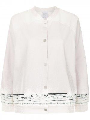 Куртка-бомбер с принтом Chanel Pre-Owned. Цвет: розовый