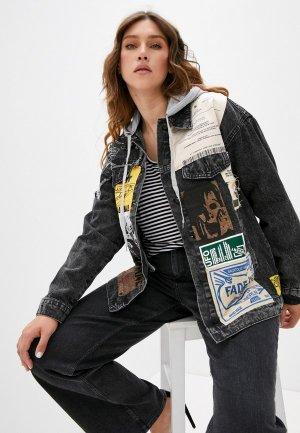 Куртка джинсовая Grafinia. Цвет: черный
