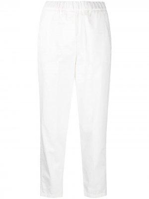 Укороченные брюки с эластичным поясом Alysi. Цвет: белый