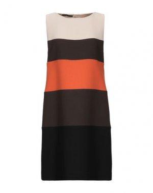 Короткое платье BOTONDI MILANO. Цвет: бежевый