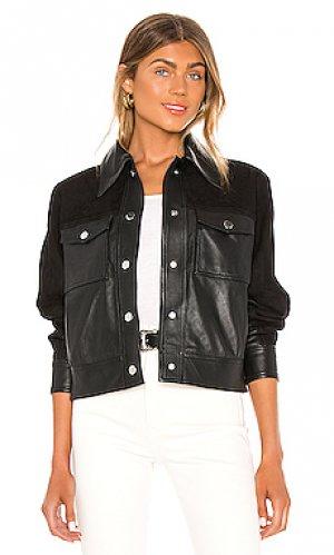 Кожаная куртка davi Song of Style. Цвет: черный