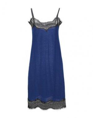 Короткое платье ANGELO MARANI. Цвет: темно-синий