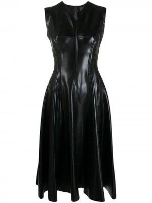 Приталенное платье с расклешенным подолом Norma Kamali. Цвет: черный