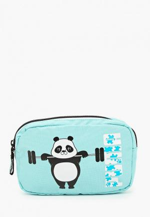 Сумка поясная PUMA Animals Waist Bag. Цвет: голубой