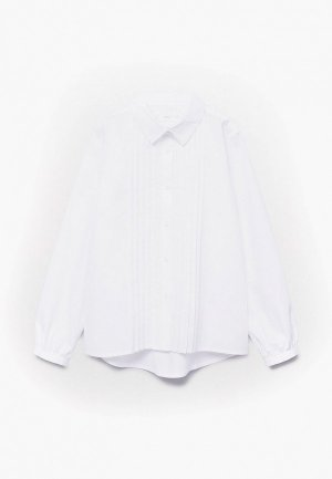 Рубашка Mango Kids ESME. Цвет: белый