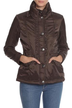 Куртка с застежкой на молнию и кнопки PAZ TORRAS. Цвет: темно-коричневый