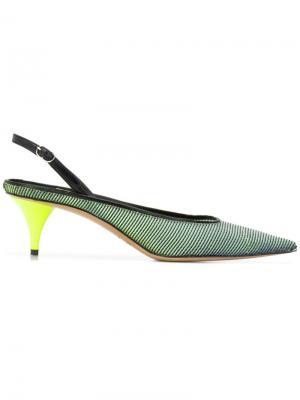 Туфли-лодочки на каблуке-рюмке Premiata. Цвет: черный