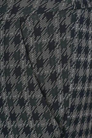Брюки со штрипками и узором Anna Rita N. Цвет: хаки