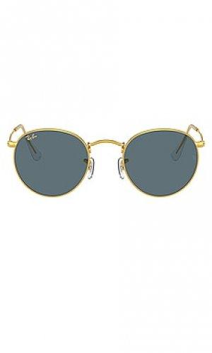 Солнцезащитные очки round metal Ray-Ban. Цвет: metallic gold,blue