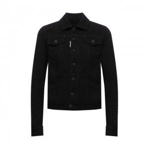 Джинсовая куртка Dsquared2. Цвет: чёрный