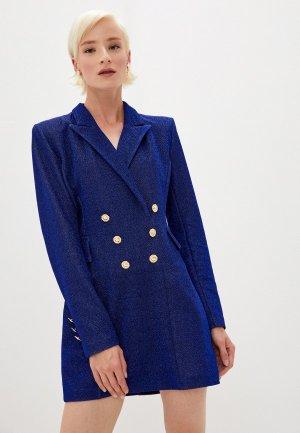 Платье Chiara Ferragni Collection. Цвет: синий