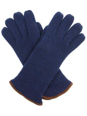 Вязаные перчатки Svevo. Цвет: синий