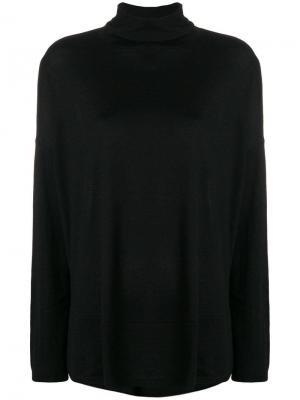 Трикотажный пуловер с высоким горлышком заворотом Snobby Sheep. Цвет: черный