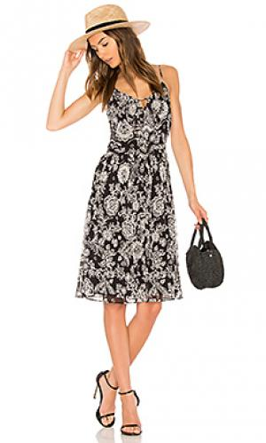Платье в цветочек ria Ella Moss. Цвет: черный