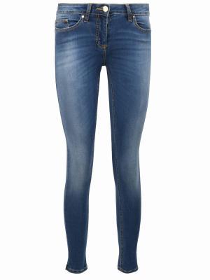 Зауженные джинсы Anna Rita. Цвет: разноцветный