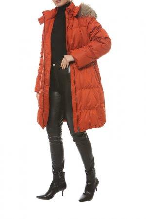 Пальто-пуховик Loft. Цвет: оранжевый