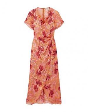 Платье миди ANNA SUI. Цвет: абрикосовый