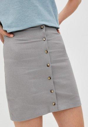 Юбка джинсовая Kira Plastinina. Цвет: серый